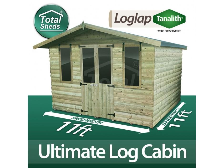 11ft X 11ft Log Cabin