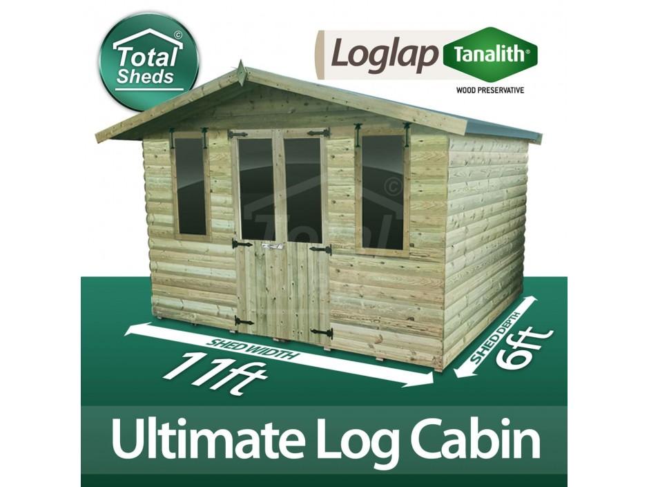 11ft X 6ft Log Cabin