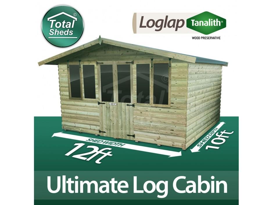 12ft X 10ft Log Cabin