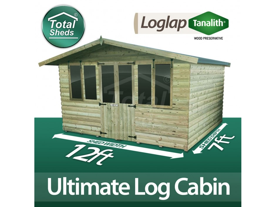 12ft X 7ft Log Cabin