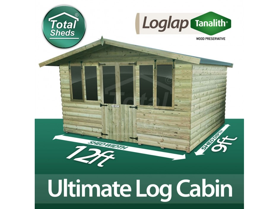 12ft X 9ft Log Cabin