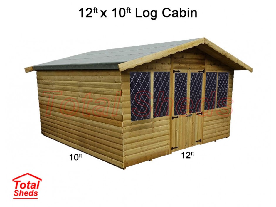 12ft X 10ft Ultimate Log Cabin