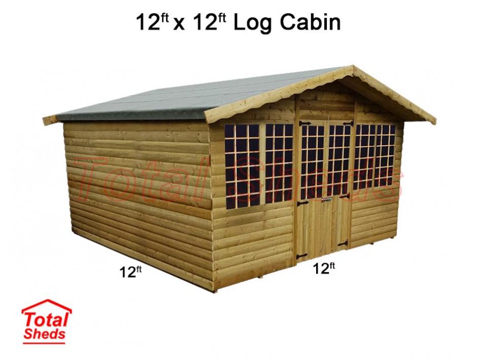 12ft X 12ft Ultimate Log Cabin