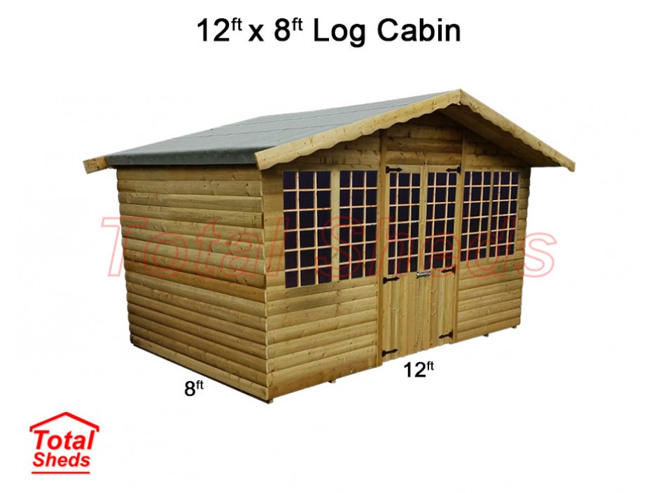 12ft X 8ft Ultimate Log Cabin