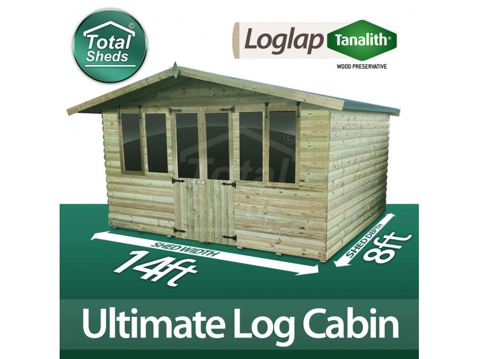 14ft X 8ft Log Cabin