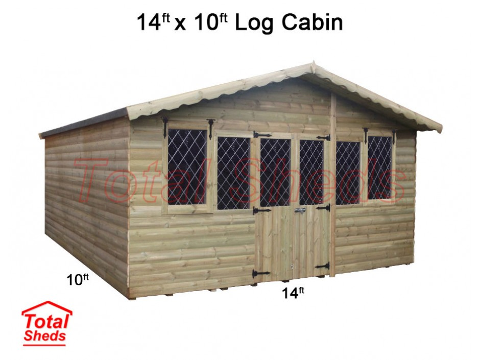 14ft X 10ft Ultimate Log Cabin