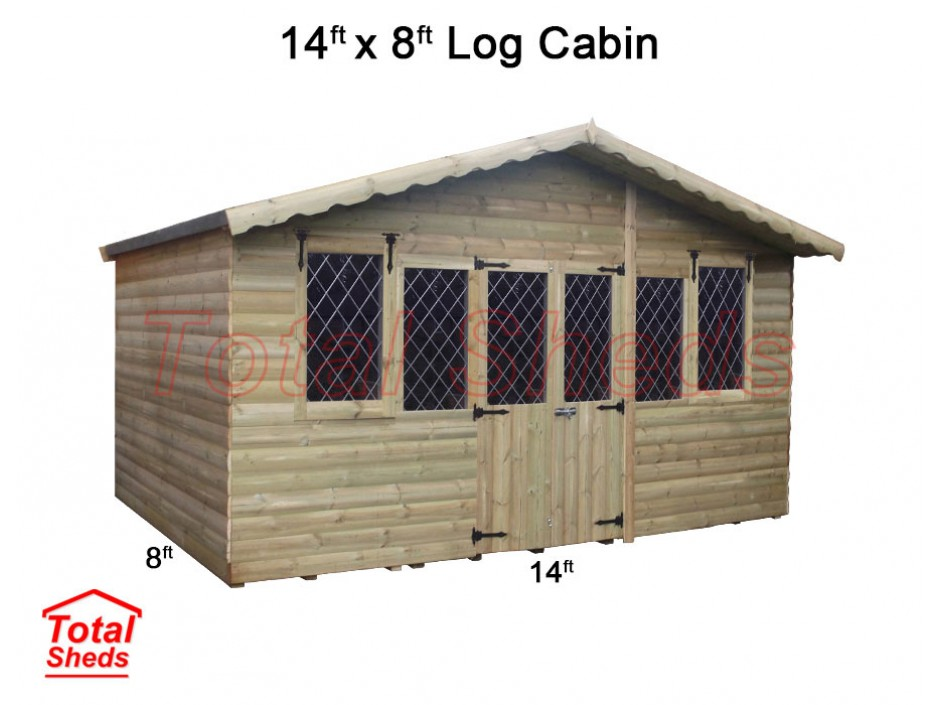 14ft X 8ft Ultimate Log Cabin