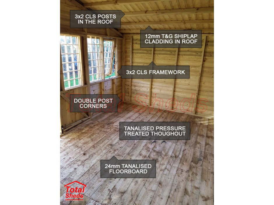 14ft X 8ft Ultimate Log Cabin