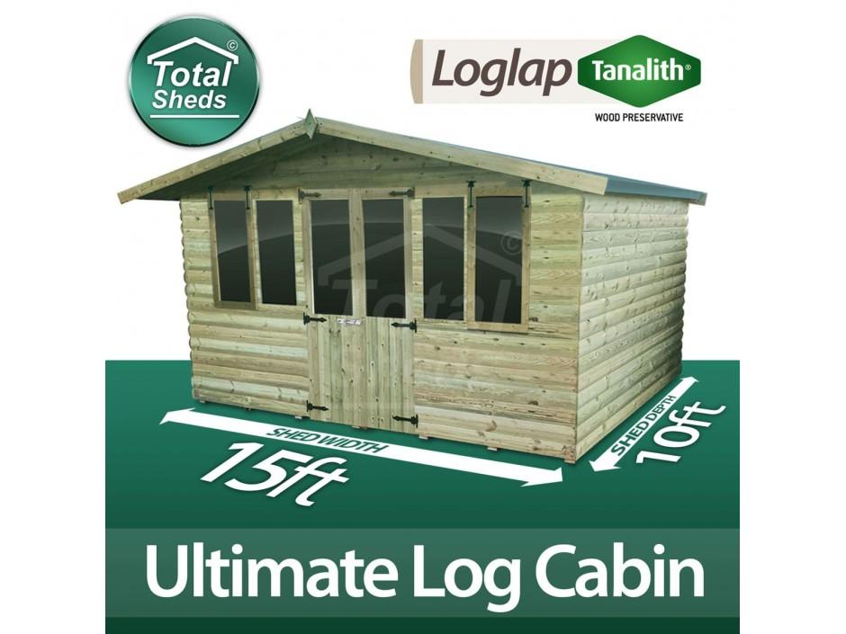 15ft X 10ft Log Cabin