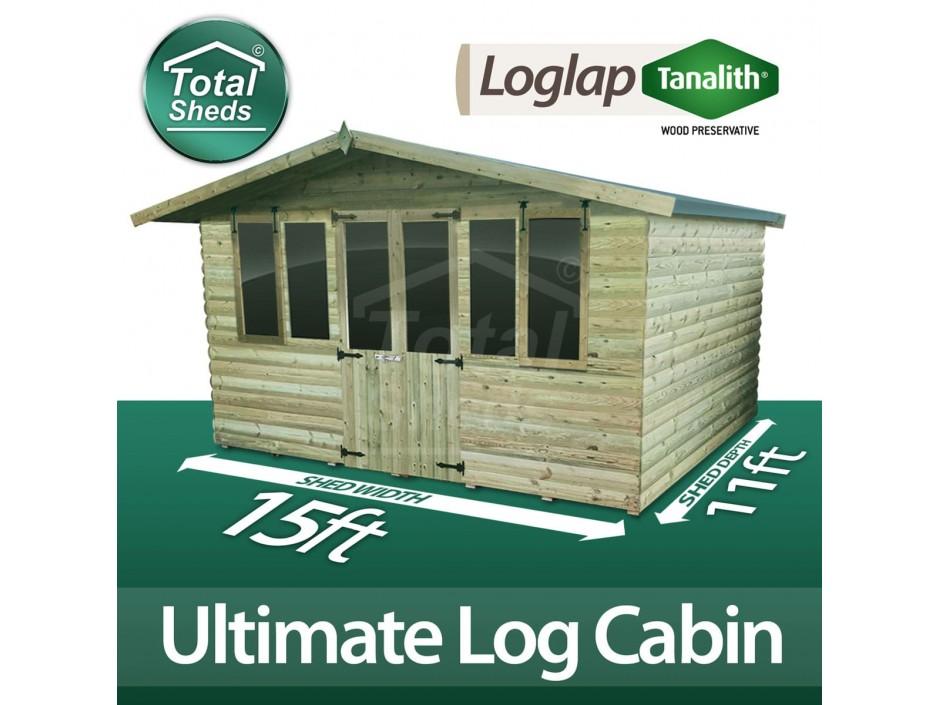 15ft X 11ft Log Cabin