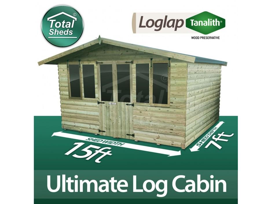 15ft X 7ft Log Cabin