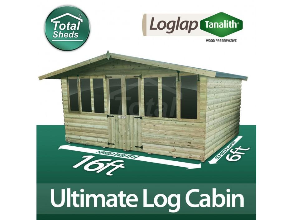 16ft X 6ft Log Cabin