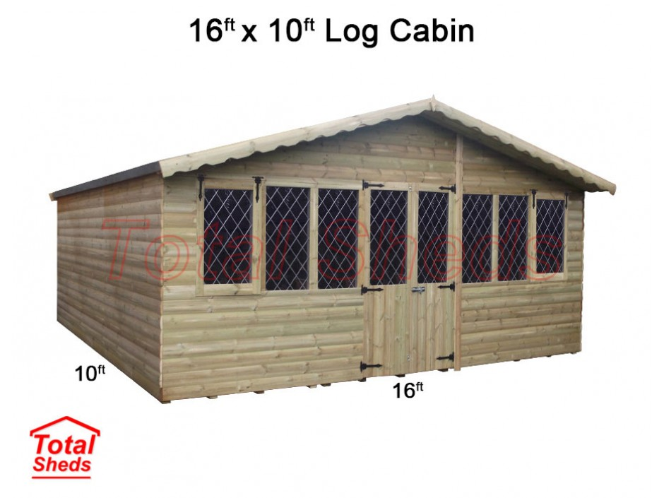 16ft X 10ft Ultimate Log Cabin