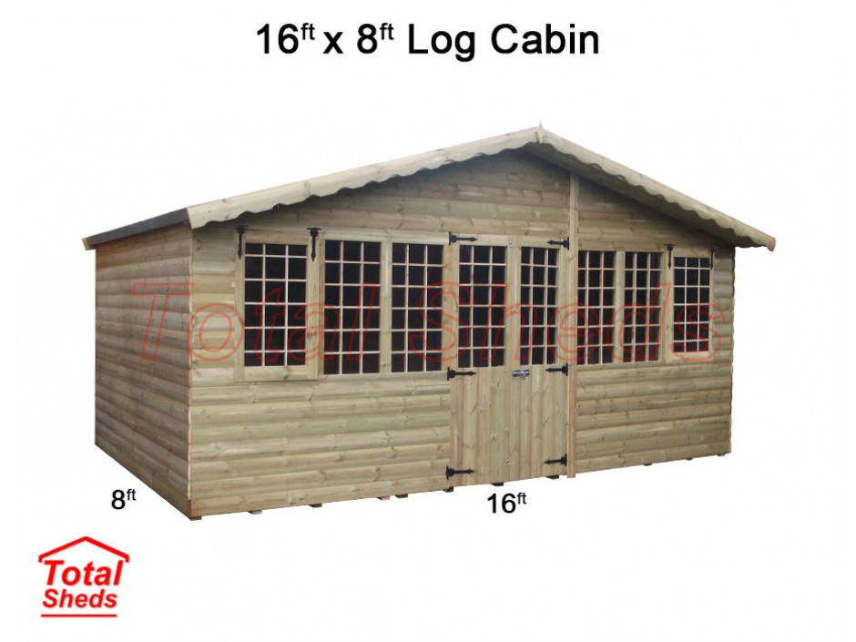 16ft X 8ft Ultimate Log Cabin