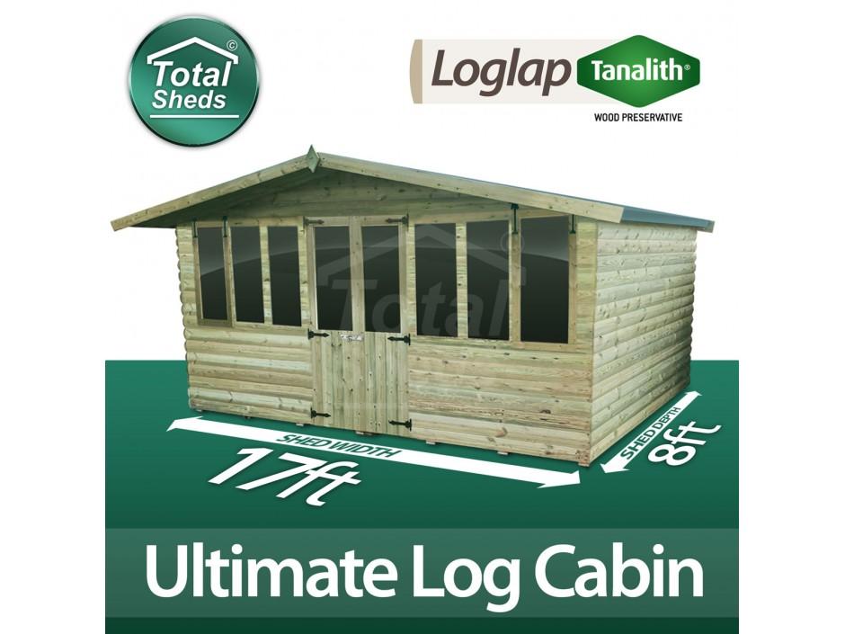 17ft X 8ft Log Cabin