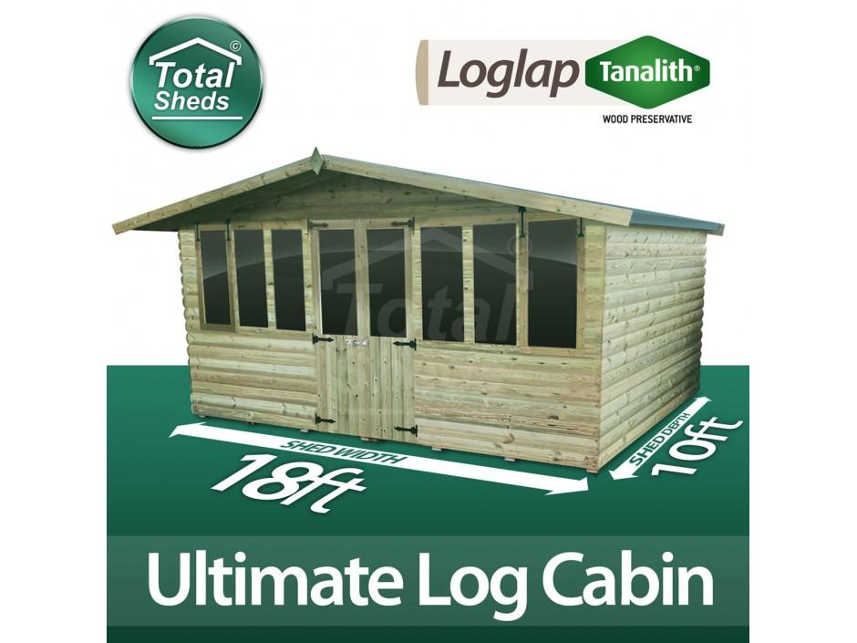 18ft X 10ft Log Cabin