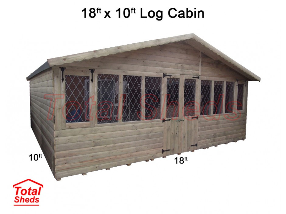18ft X 10ft Ultimate Log Cabin