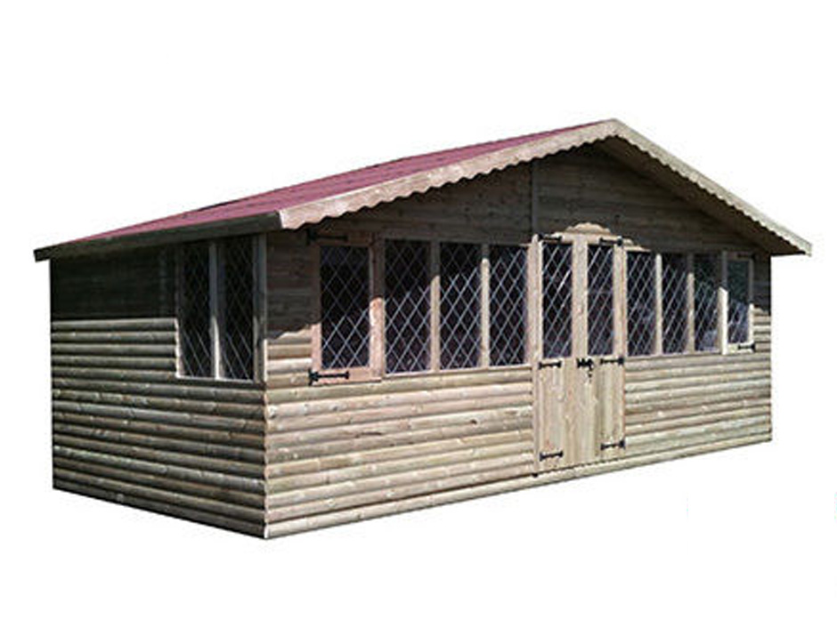 40ft X 10ft Ultimate Log Cabin