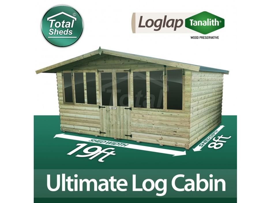 19ft X 8ft Log Cabin