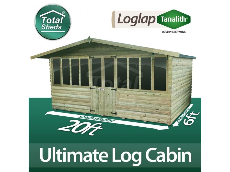 20ft X 6ft Log Cabin