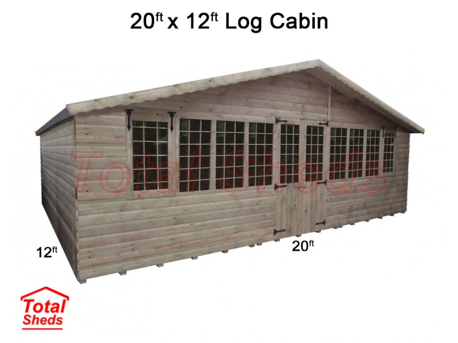 20ft X 12ft Ultimate Log Cabin