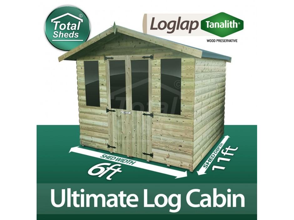 6ft X 11ft Log Cabin
