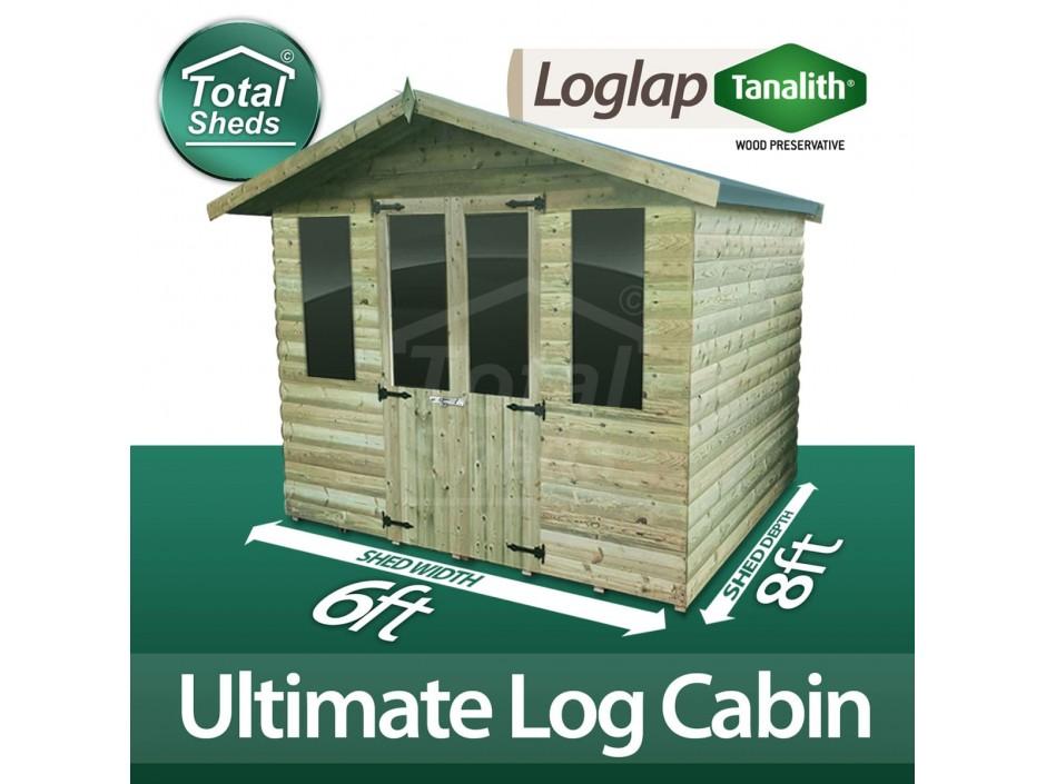 6ft X 8ft Log Cabin