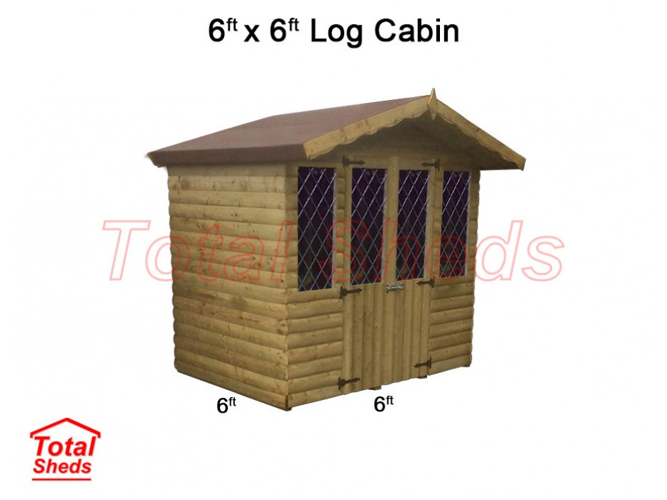 6ft X 6ft Ultimate Log Cabin
