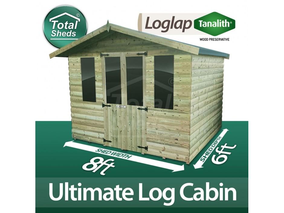 8ft X 6ft Log Cabin