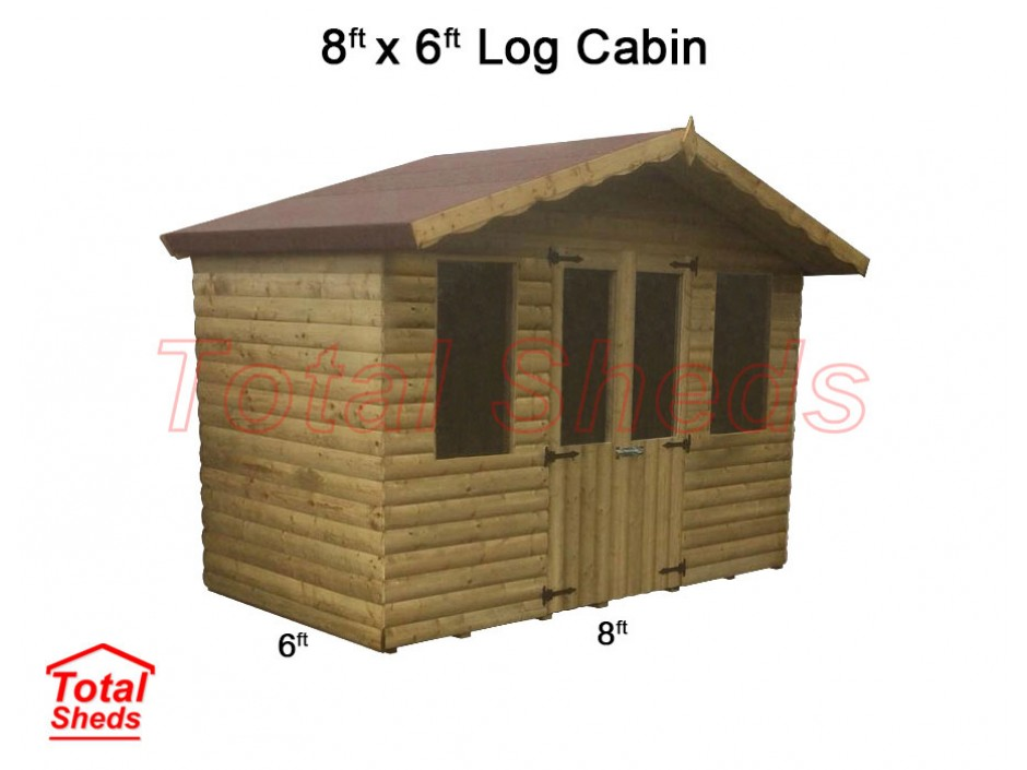 8ft X 6ft Ultimate Log Cabin