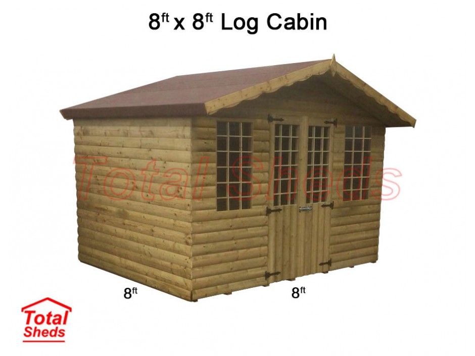8ft X 8ft Ultimate Log Cabin