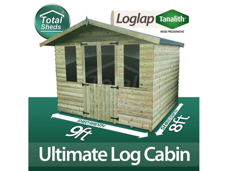 9ft X 8ft Log Cabin