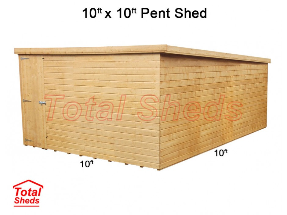 10ft X 10ft Pent Shed