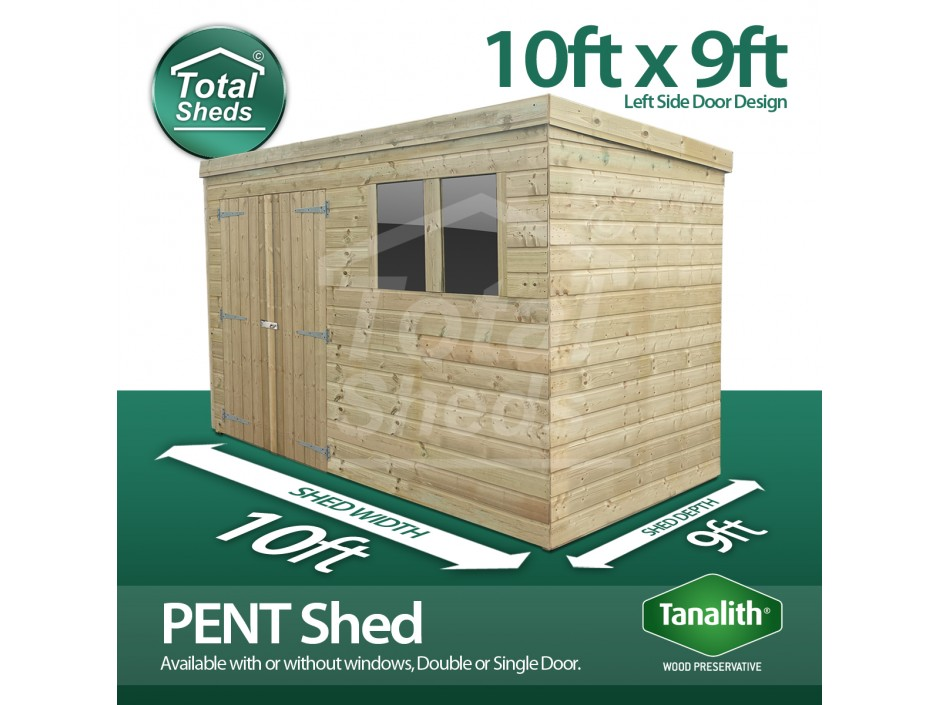10ft X 9ft Pent Shed