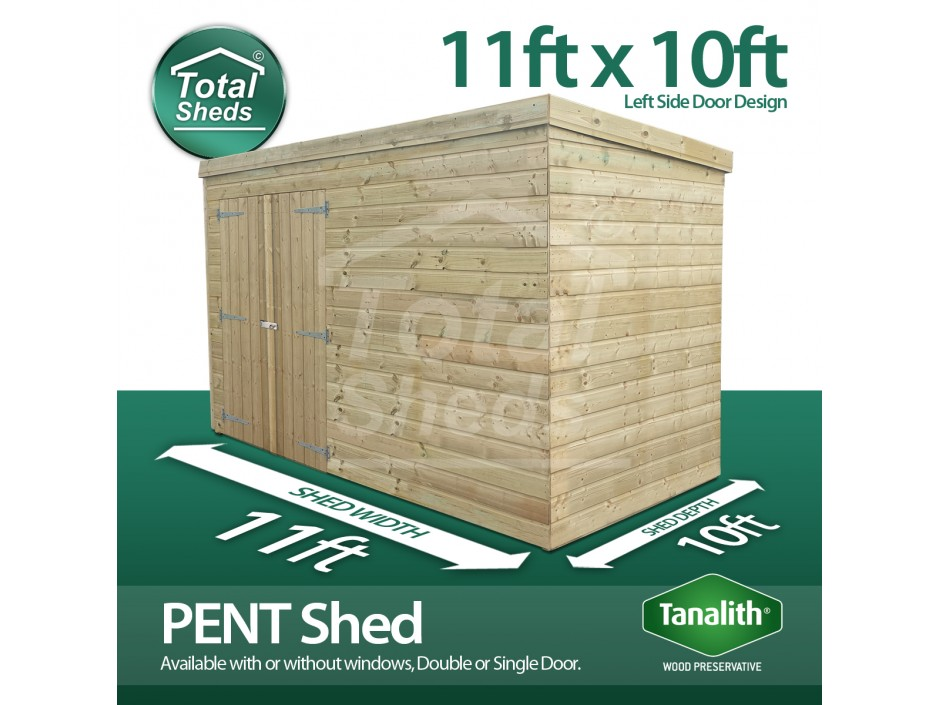 11ft X 10ft Pent Shed