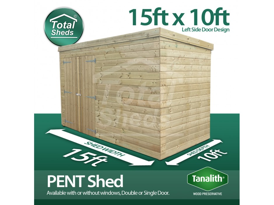 15ft X 10ft Pent Shed