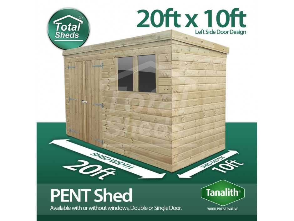 20ft X 10ft Pent Shed
