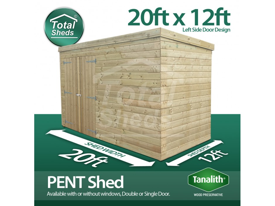 20ft X 12ft Pent Shed