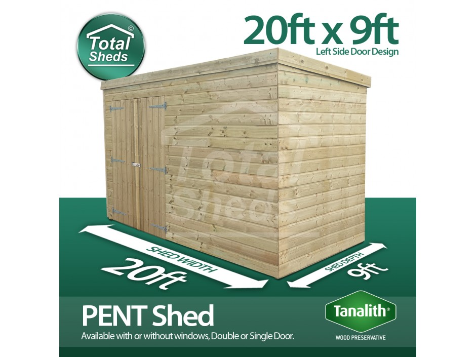 20ft X 9ft Pent Shed