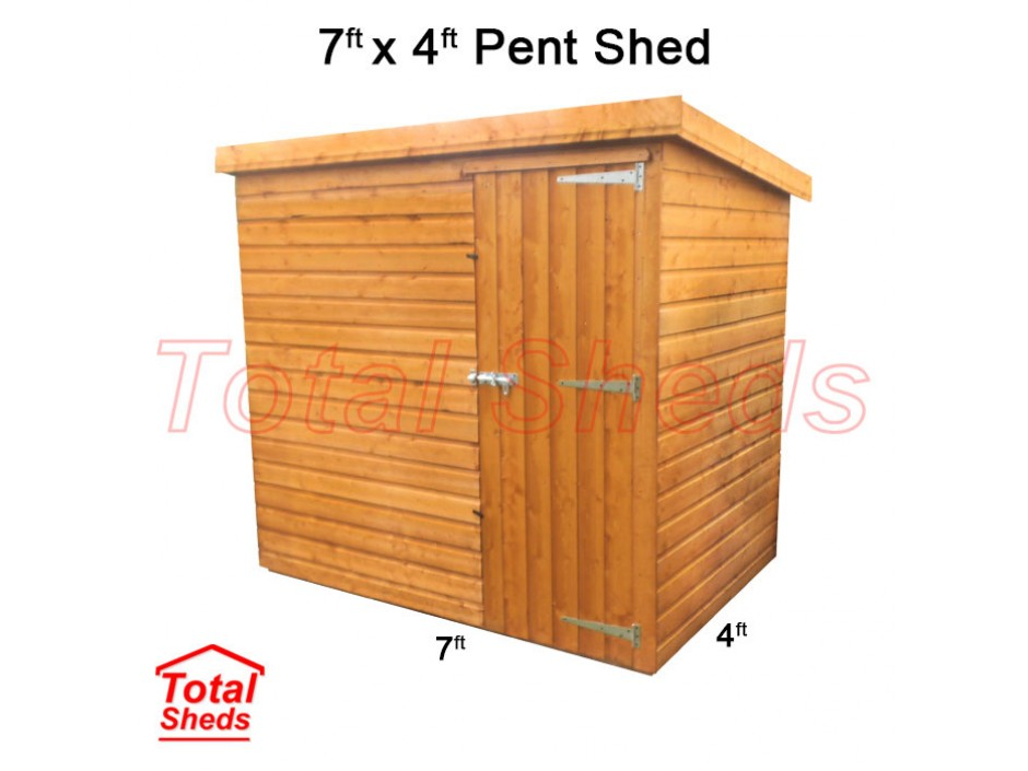 7ft X 4ft Pent Shed