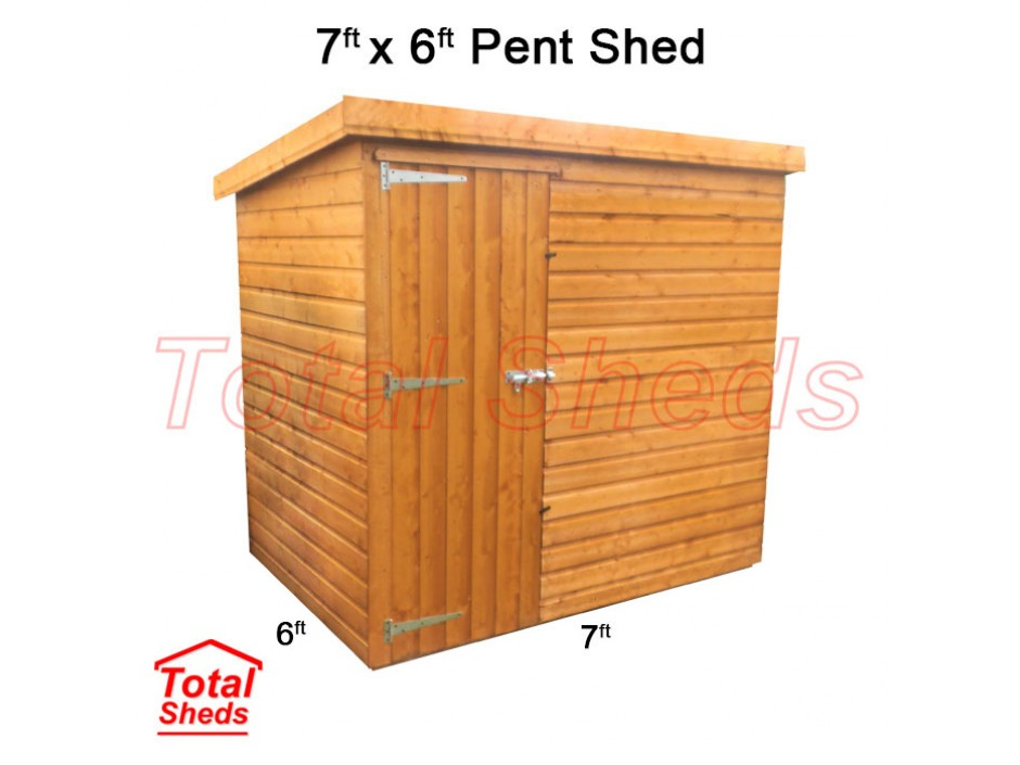 7ft X 6ft Pent Shed