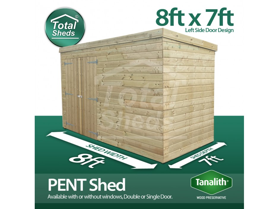 8ft X 7ft Pent Shed