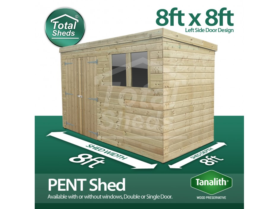 8ft X 8ft Pent Shed