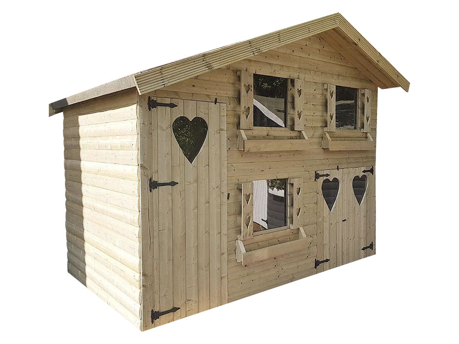 10ft X 8ft Double Storey Loglap Playhouse