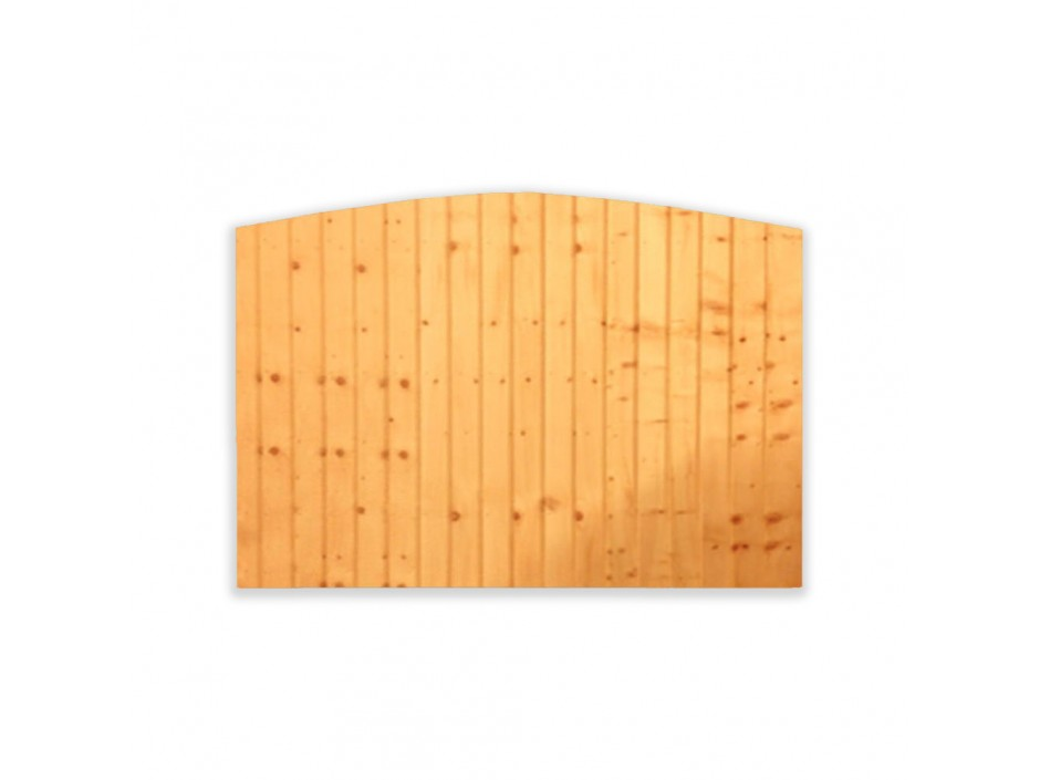 6ft x 2ft Dome Featheredge Closeboard Fence Panel