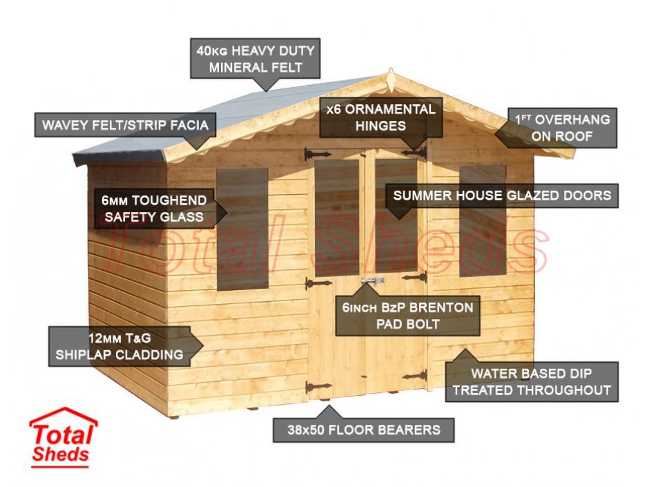 10ft X 6ft Supreme Summer House