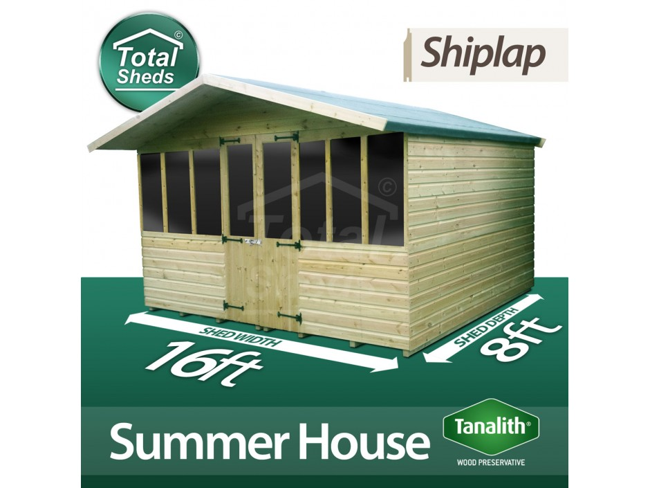 16ft X 8ft Summer House