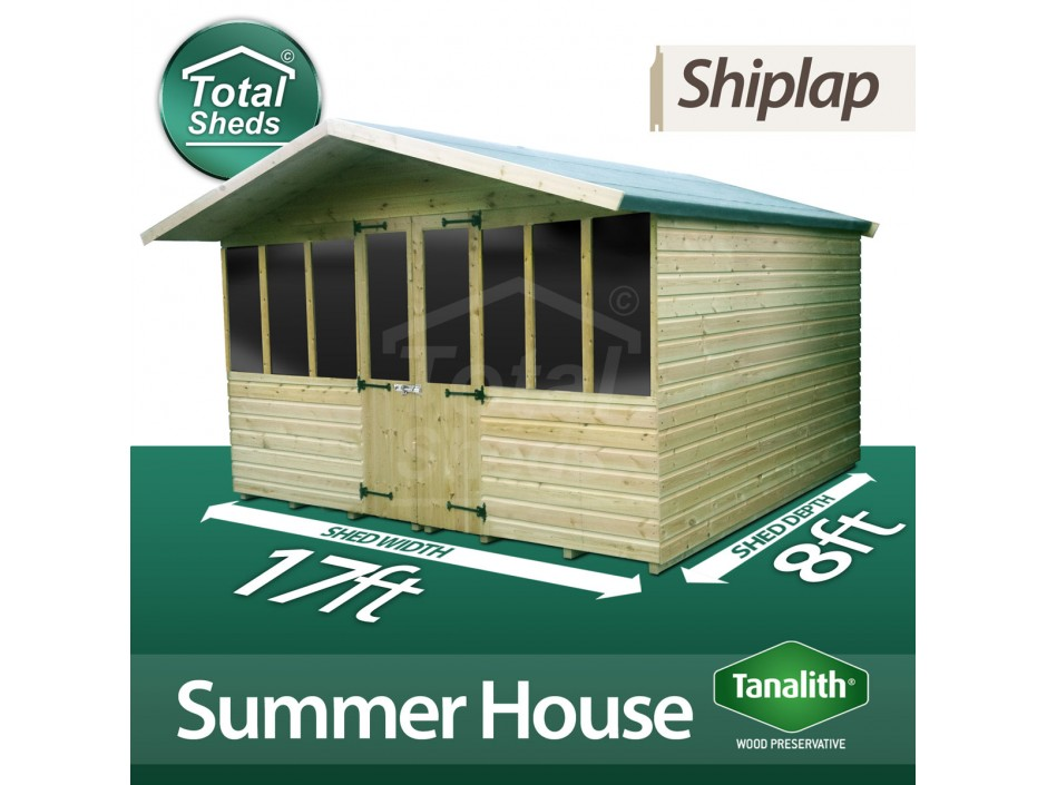 17ft X 8ft Summer House