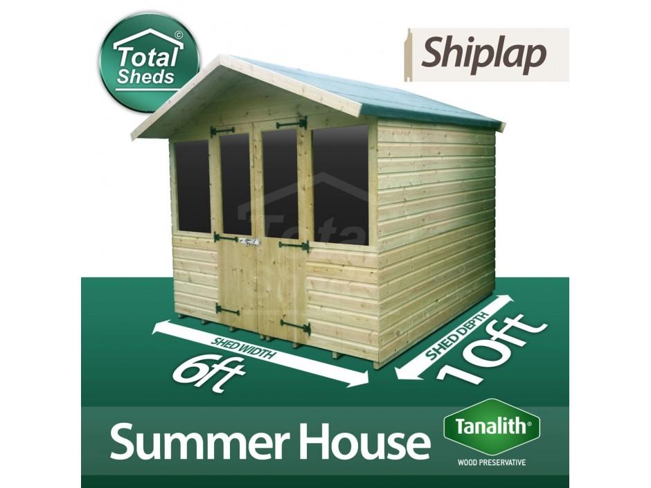 6ft X 10ft Summer House