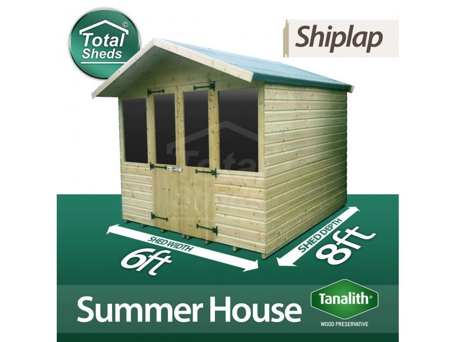 6ft X 8ft Summer House